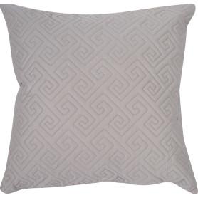 Подушка стёганая, 50х50 см, цвет серый