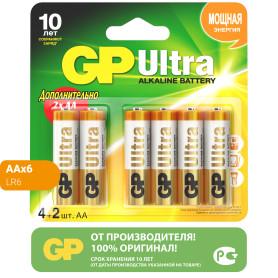 Батарейка алкалиновая GP 15AU4/2-CR AA, 6 шт.