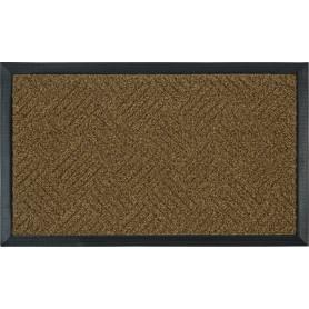 Коврик, 45х75 см, полипропилен/резина, цвет коричневый