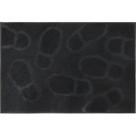 Коврик «Следы», 40x60 см, резина, цвет чёрный