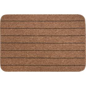 Коврик «Como», 67x100 см, полипропилен, цвет коричневый/чёрный