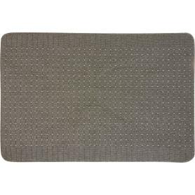 Коврик «Stanford», 100x150 см, полипропилен, цвет свинцовый/светло-серый