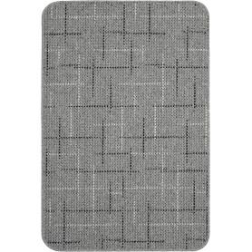 Коврик «Taylor», 67x100 см, полипропилен, цвет серый/чёрный