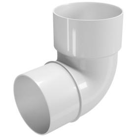 Колено трубы Ø80 67° белый