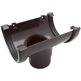 Воронка желоба Ø80 коричневый