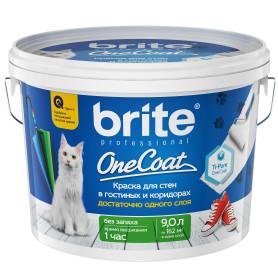 Краска для стен и потолков Brite OneСoat база А 9 л