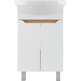 Тумба под раковину напольная «Руан» 50 см цвет белый