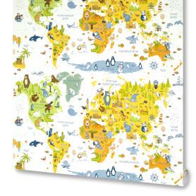 Обои флизелиновые Ovk Design Карты белые 1.06 м 10078-04