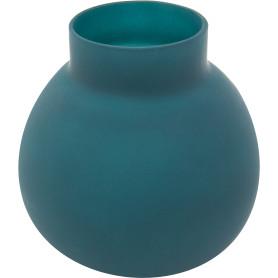 Ваза «Токио 2» средняя стекло, цвет тёмно-синий матовый