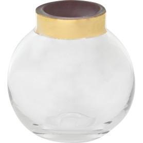 Ваза «Токио» 3 средняя, стекло, цвет прозрачный/золотой