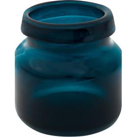 Ваза «Римас» 1, стекло, цвет тёмно-синий радужный
