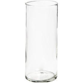 Ваза «Трубка» 107 средняя стекло, цвет прозрачный