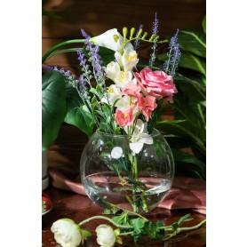 Ваза «Шар» стекло цвет прозрачный
