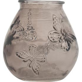 Подсвечник «Бабочки», цвет прозрачный дымчатый