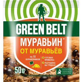 Средство для защиты садовых растений от вредителей «Муравьин» 50 г