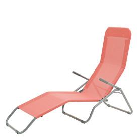 Шезлонг Veia Origami 137х61 см складной сталь/текстиль оранжевый