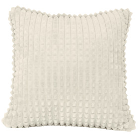 Подушка декоративная «Плюш», 43х43 см, цвет кремовый