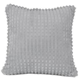 Подушка декоративная «Плюш», 43х43 см, цвет серый