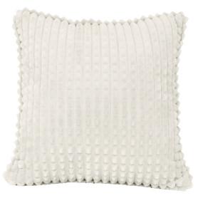 Подушка декоративная «Плюш», 43х43 см, цвет бело-серый