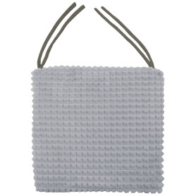 Галета для стула «Плюш» 40х40 см, цвет серый