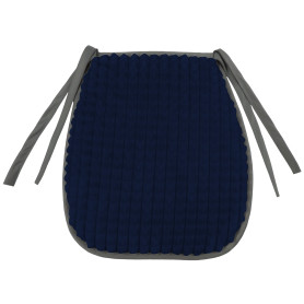 Галета для стула «Плюш» 38х40 см, плюш, цвет тёмно-синий