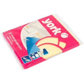 Салфетка губчатая York синтетика 3 шт.