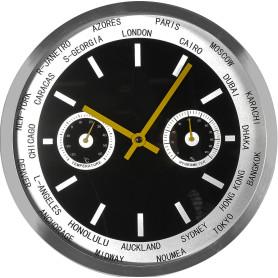 Часы настенные ML 9225 с термометром и гигрометром, диаметр 30 см