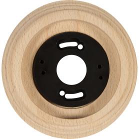 Рамка для розеток и выключателей Electraline 1 пост, цвет карельская сосна