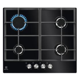 Варочная панель газовая Electrolux GPE263YK, 4 конфорки, цвет чёрный