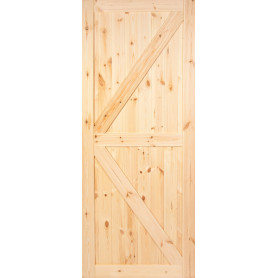 Дверь межкомнатная глухая амбарная, 70х200 см, массив сосны