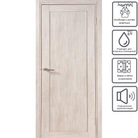 Дверь межкомнатная глухая Кантри 60x200 см, ПВХ, цвет дуб эссо, с фурнитурой