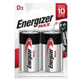Батарейка алкалиновая Energizer Max D/LR20, 2 шт.