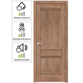 Дверь межкомнатная глухая с замком и петлями в комплекте «Тоскана» 90x200 см цвет дуб бельмонт