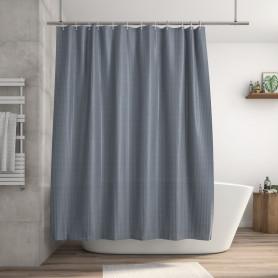 Штора для ванны Sensea Neo Stripes 180x200 см текстиль цвет серый