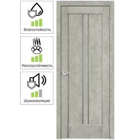 Дверь межкомнатная остеклённая «Сиэтл», 60x200 см, ПВХ, цвет лофт светлый, с фурнитурой