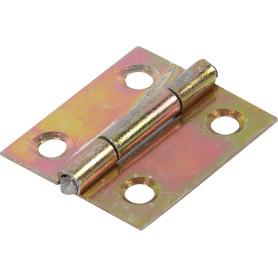 Петля универсальная 25.2х22 мм, оцинкованная сталь, цвет золотой