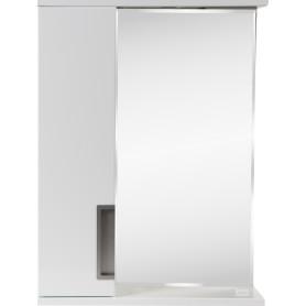 Шкаф зеркальный подвесной «Венто» 52x70 см цвет белый