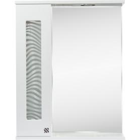 Шкаф зеркальный подвесной «Мальта» 55x70 см цвет белый
