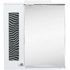 Шкаф зеркальный подвесной «Мальта» 65x70 см цвет белый