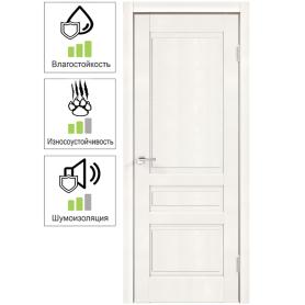 Дверь межкомнатная глухая «Летиция», 80x200 см, ПВХ, цвет дуб пломбир, с фурнитурой