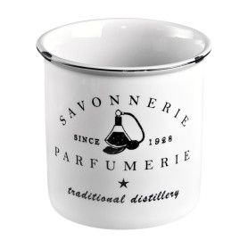 Стакан для зубных щёток Parfumer керамика цвет белый/чёрный