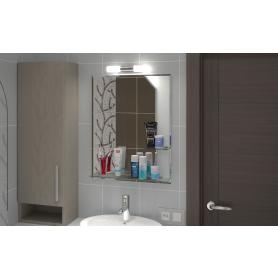 Зеркало с полкой «Бали» 54х68 см цвет белый