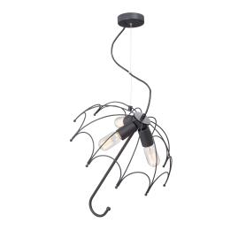Люстра подвесная «Зонт», 3 лампы, 15 м², цвет чёрный