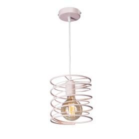 Светильник подвесной «Торнадо», 1 лампа, 3 м², цвет розовый