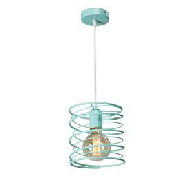 Светильник подвесной «Торнадо», 1 лампа, 3 м², цвет зелёный