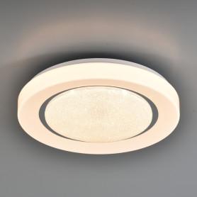 Светильник настенно-потолочный светодиодный Pinola 2079/DL с пультом управления, 14 м², регулируемый свет, цвет белый