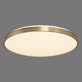 Светильник настенно-потолочный светодиодный Lota Bronze 2089/EL с пультом управления, 18 м², регулируемый свет, цвет белый