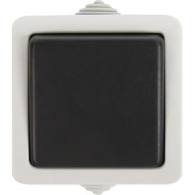 Выключатель накладной влагозащищенный LK Studio Aqua 1 клавиша IP54 цвет серый