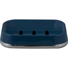 Мыльница Gloss пластик цвет тёмно-синий