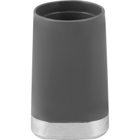 Стакан для зубных щёток Gloss пластик цвет тёмно-серый
